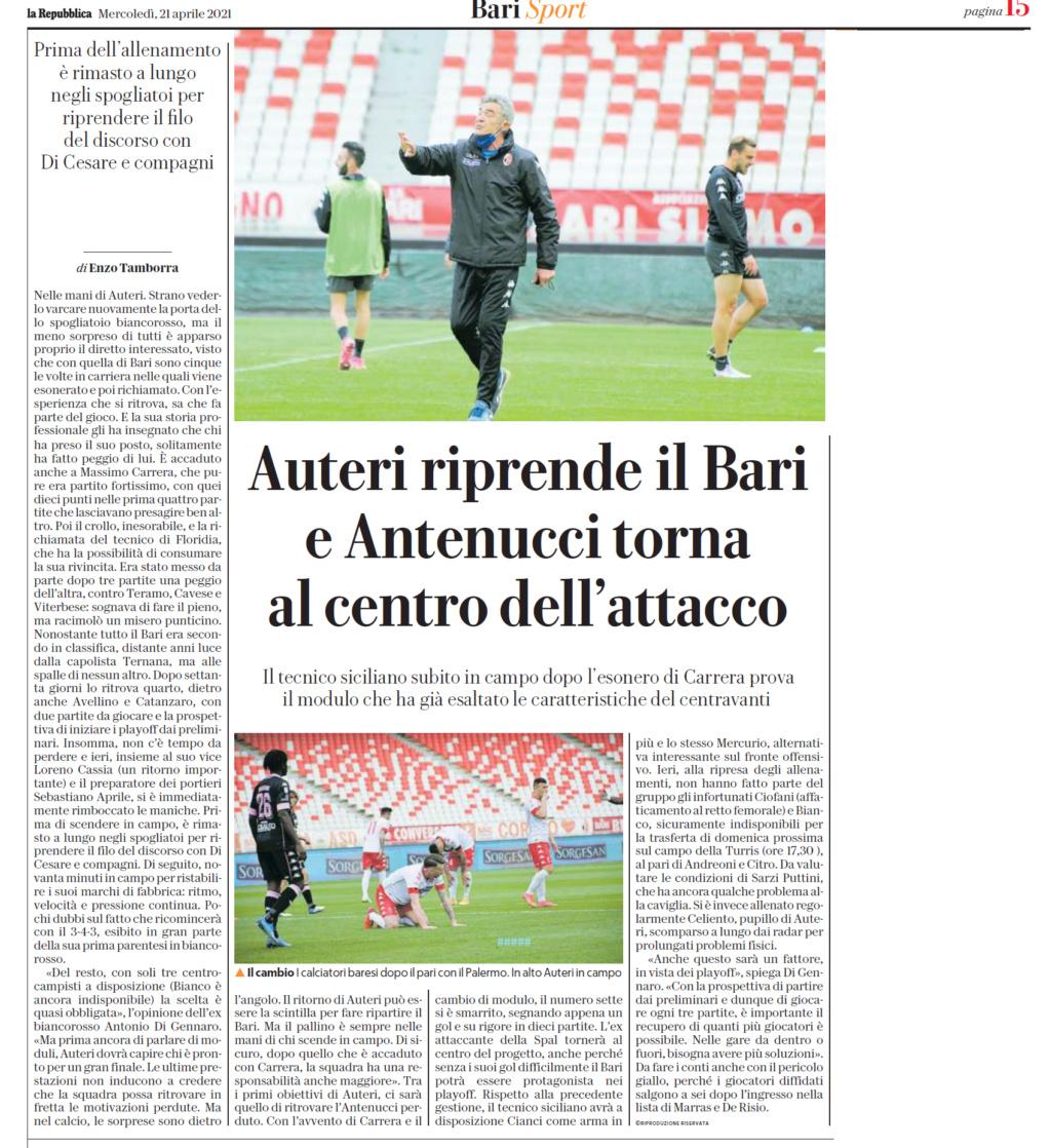 21/04/21 Rep. Auteri si riprende  il Bari, Antenucci... Rep16