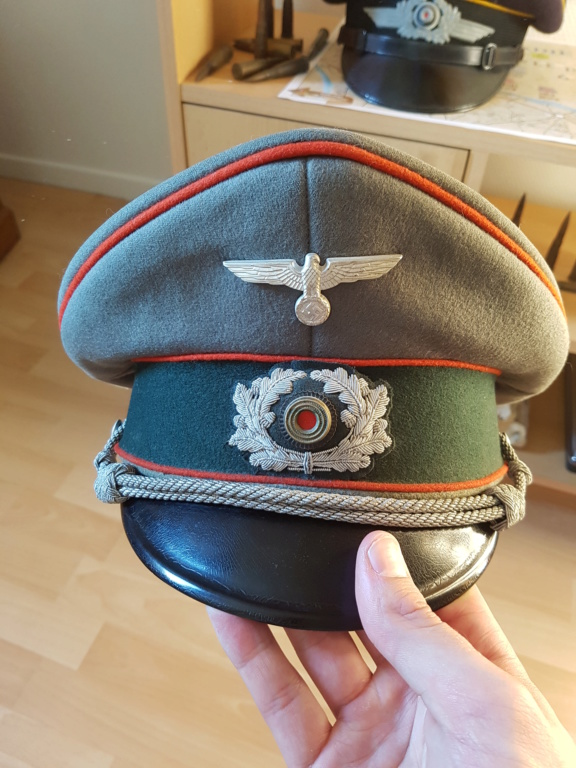 Authentification casquette officier artillerie allemande ww2 20200511
