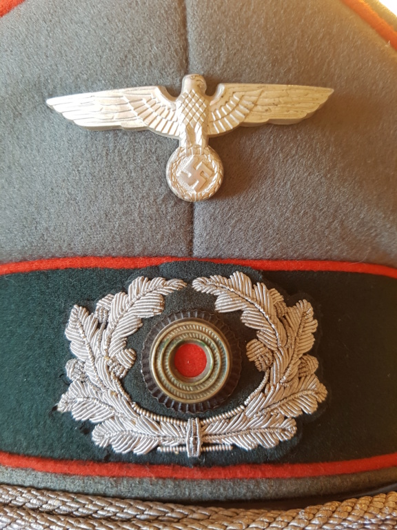 Authentification casquette officier artillerie allemande ww2 20200512