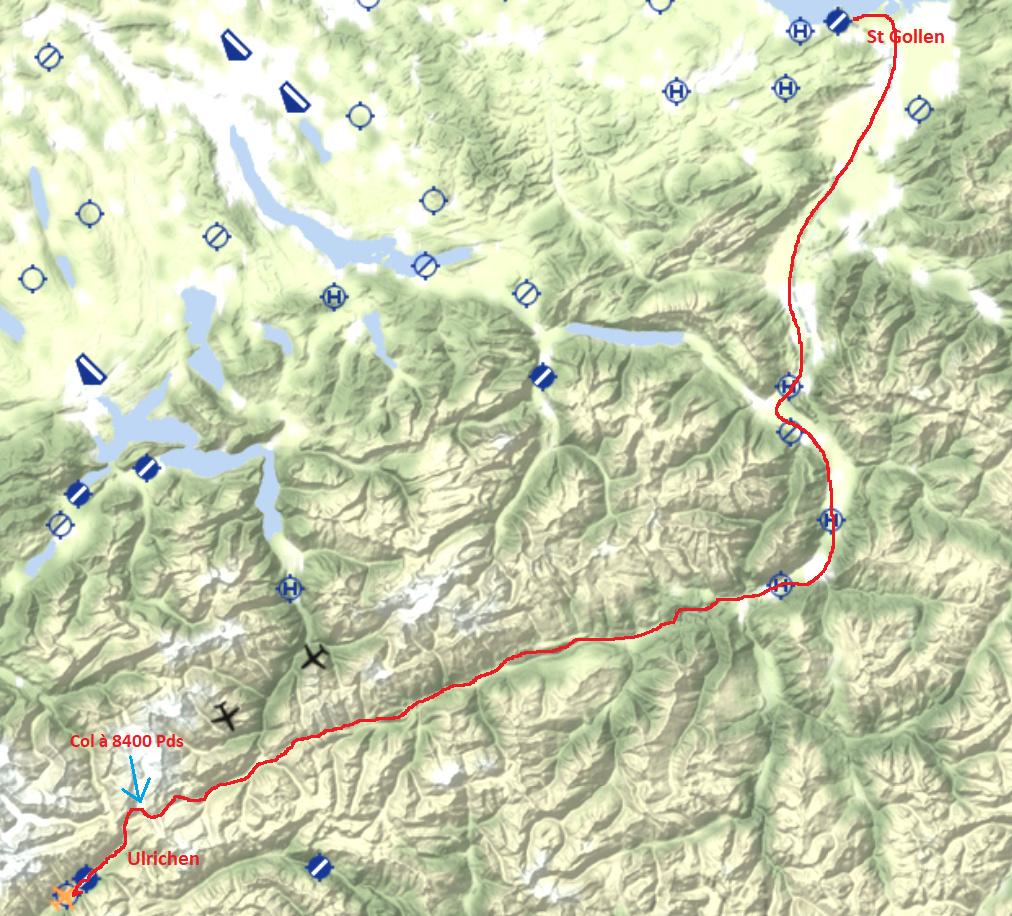 Le survol des Alpes 4° étape Carte113