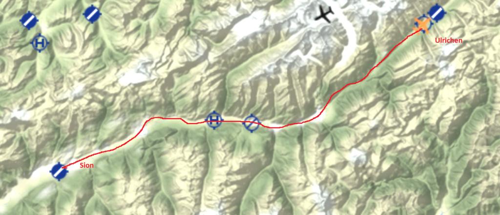 Le survol des Alpes 4° étape Carte_15