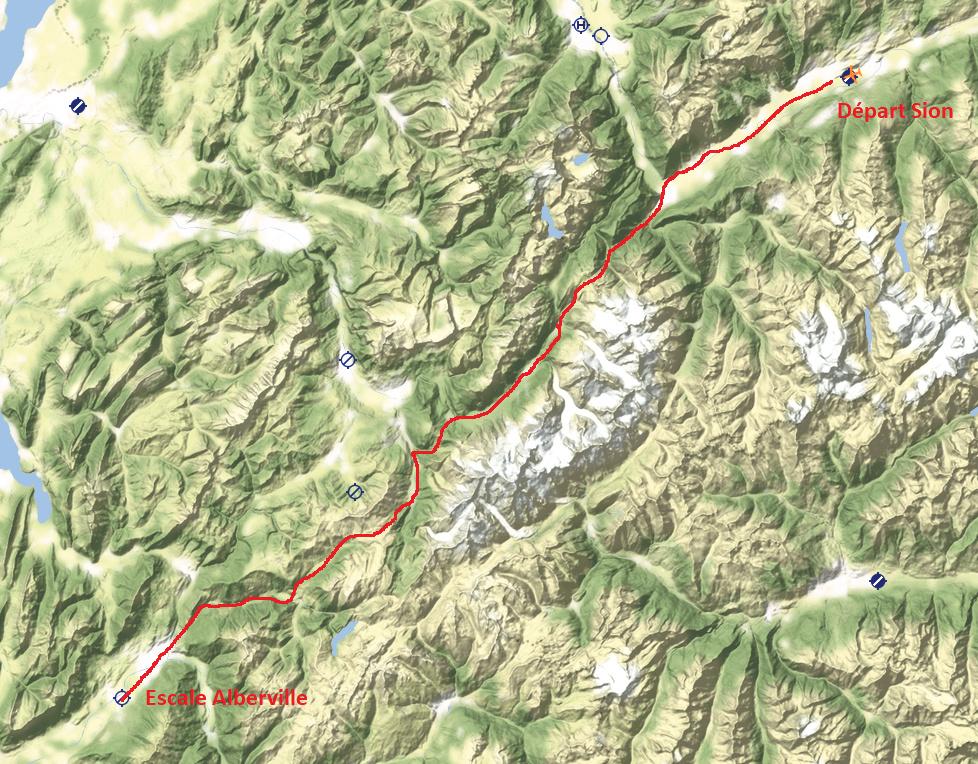 Le survol des Alpes 5° étape Plan_d10