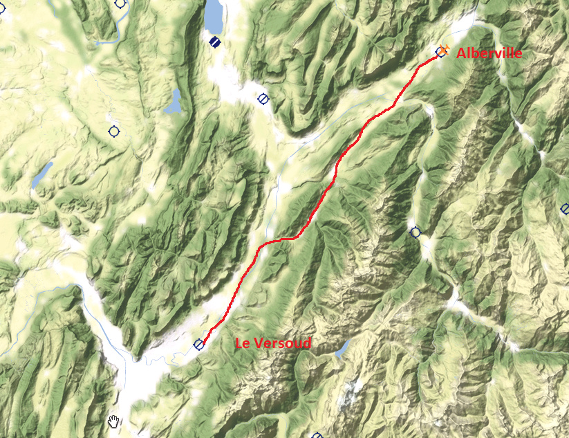 Le survol des Alpes 5° étape Traczo10