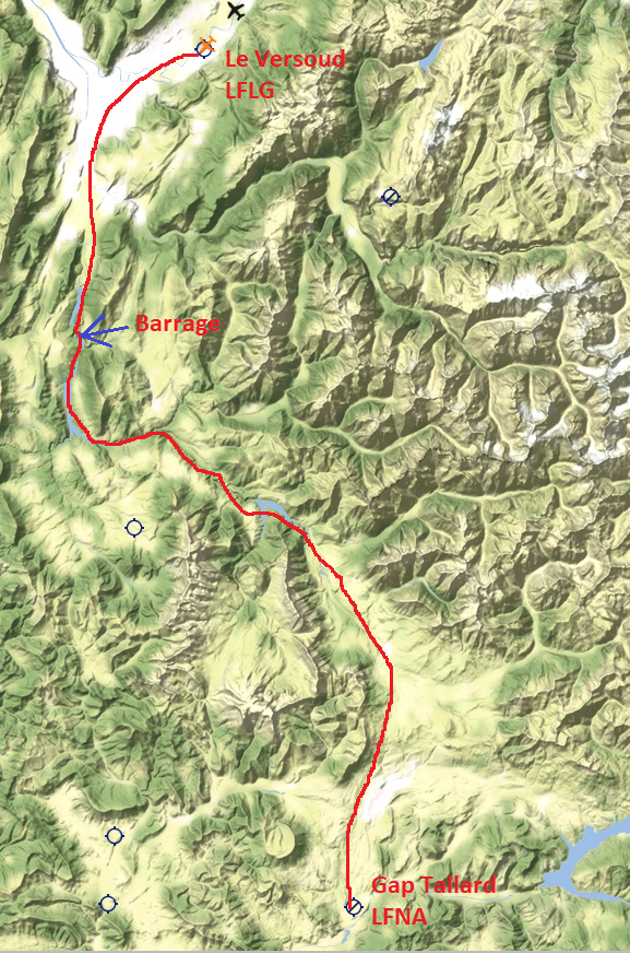 Le survol des Alpes 6° étape Traczo15