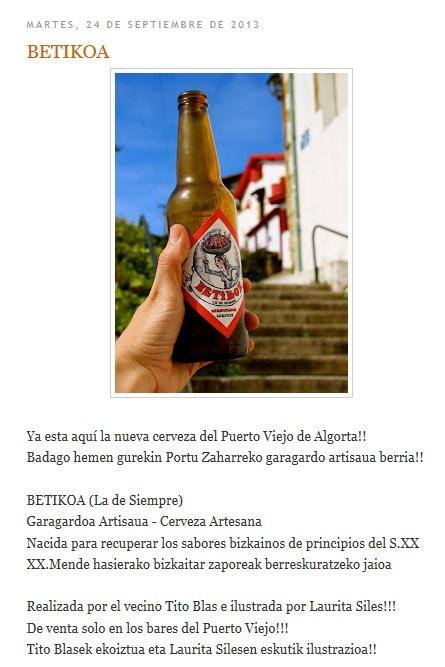 CATÁLOGO DE CERVEZAS ARTESANAS (PAÍS VASCO) Betiko10