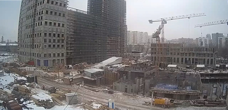Веб-камеры на площадке строительства ЖК «Серебряный фонтан»  - Страница 9 123910
