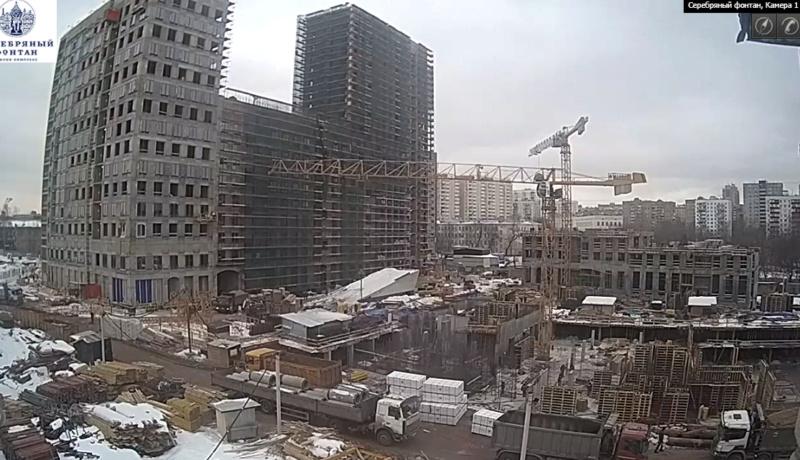 """Ход строительства 2 корпуса ЖК """"Серебряный фонтан"""" 6510"""