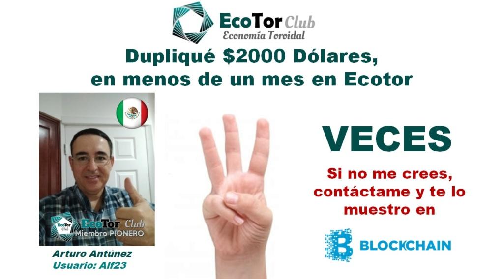 Ecotor.Club | Multiplica tu Dinero x2, x3, x7 sin darle el dinero a ninguna compañía Arturo10