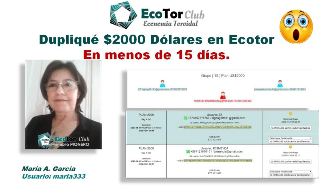 Ecotor.Club | Multiplica tu Dinero x2, x3, x7 sin darle el dinero a ninguna compañía Maria_10