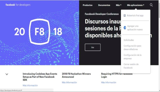 Actualizacion de la API de Facebook Api_de10
