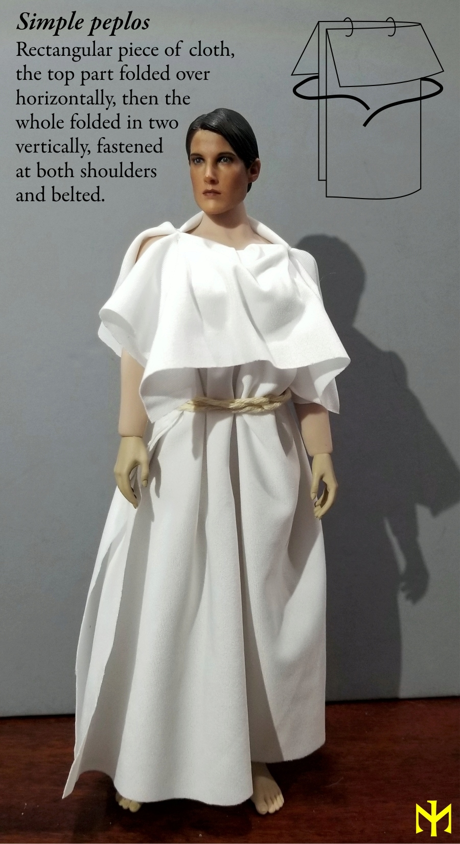kitbash - Ancient Greek Clothing in Sixth Scale Cagc2110