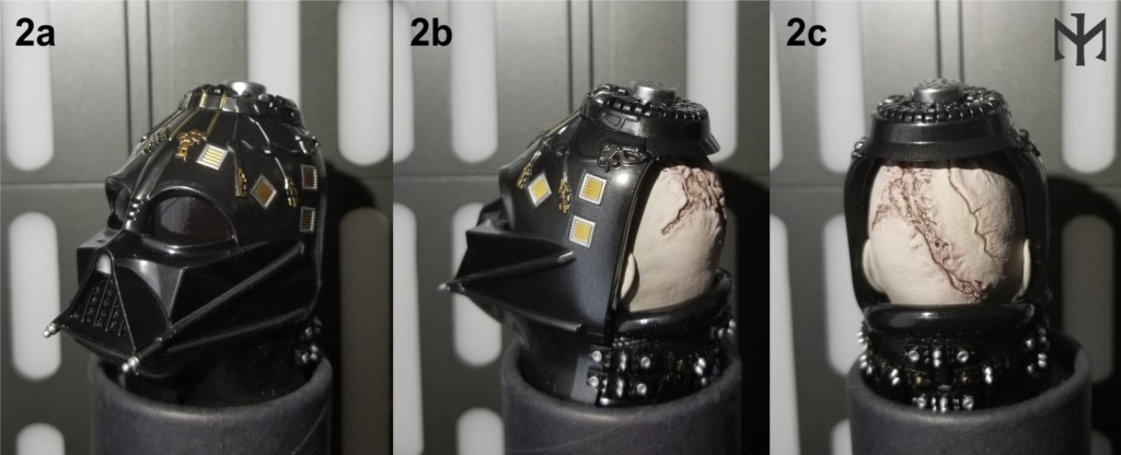 kitbash - STAR WARS New customizing Hot Toys ESB Vader head Htdves11