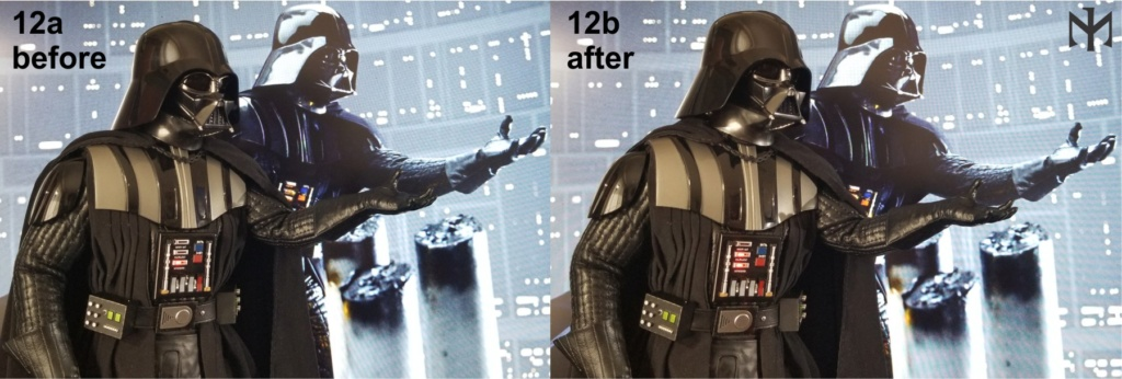 kitbash - STAR WARS New customizing Hot Toys ESB Vader head Htdves21