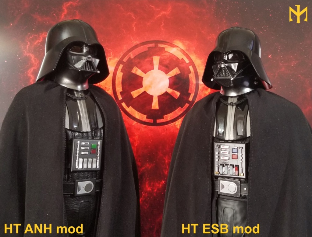 kitbash - STAR WARS New customizing Hot Toys ESB Vader head Htdves22