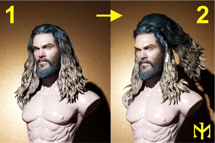 Converting Jason Momoa HT Aquaman Head Jma0110