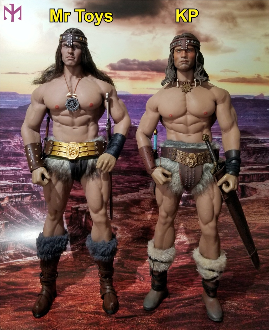 fantasy - Conan the Barbarian Masterclass Set and Head (MC01) by Kaustic Plastik Kpmc1210