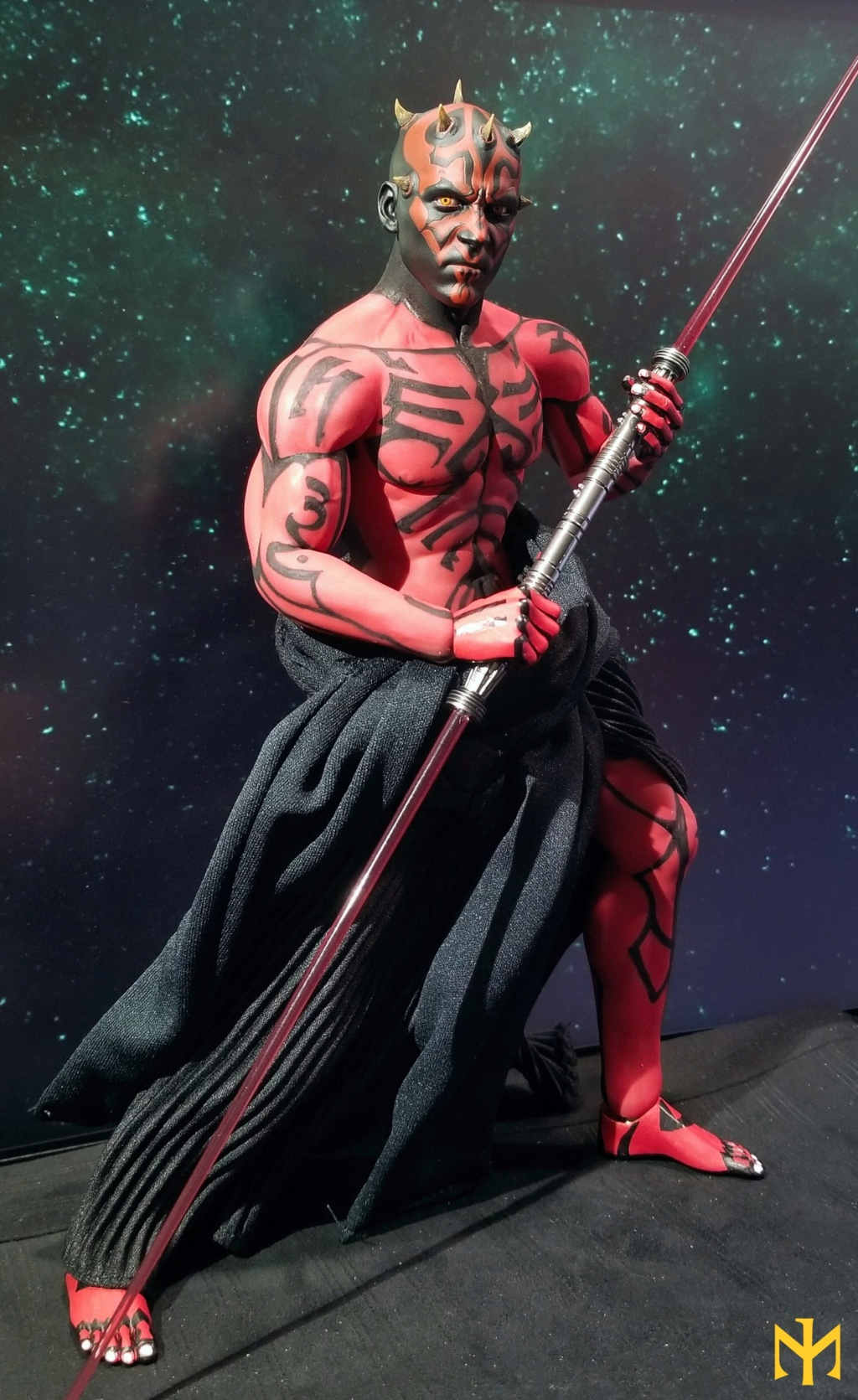 STAR WARS Updated Darth Maul Custom Part IV Maul 2.0 (photo heavy) Swdmt015
