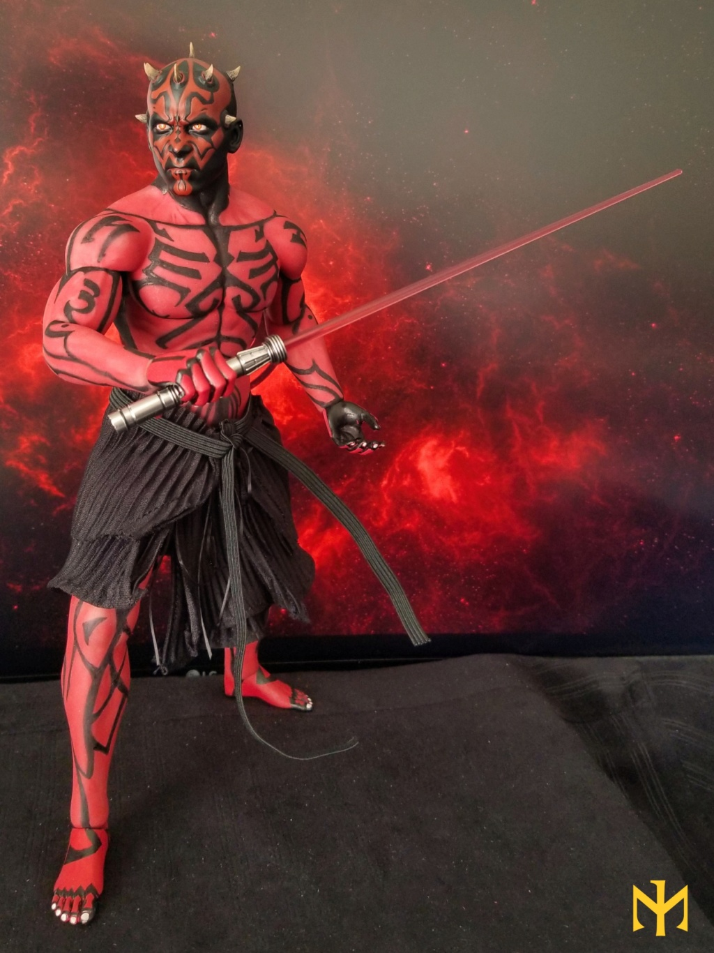 STAR WARS Updated Darth Maul Custom Part IV Maul 2.0 (photo heavy) Swdmt017
