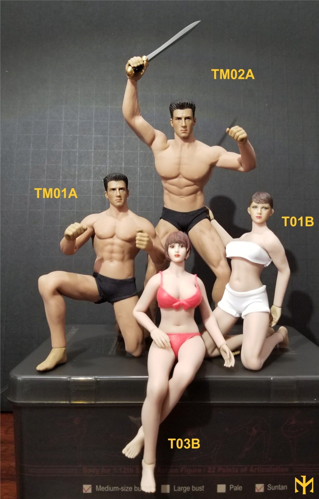 phicen - TBLeague / Phicen T03B 1:12 seamless female body and friends T03b0910