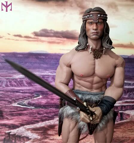 Kaustic Plastik KP 1//6 MC-01 Barbarian Conan Costume Set /& Head Sculpt Figure