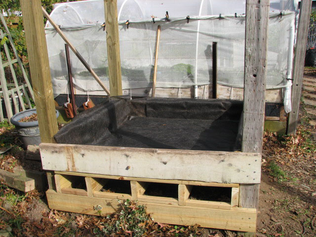 elevated raised bed over cemented area 1bed1010