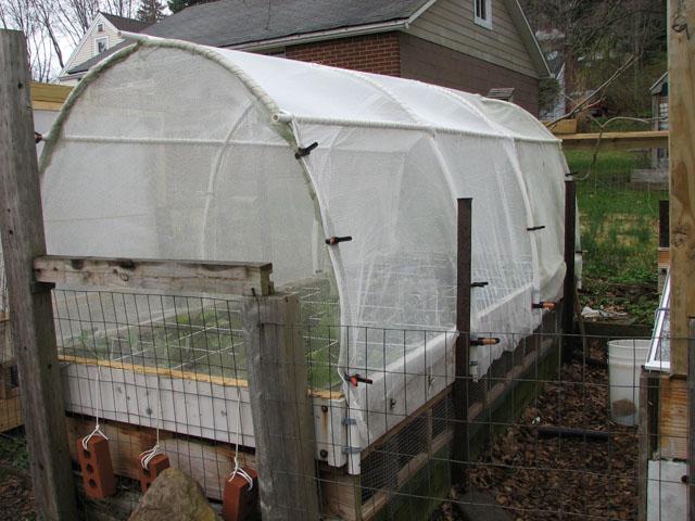 Bird Netting on Top of Enclosed Garden Nettin10