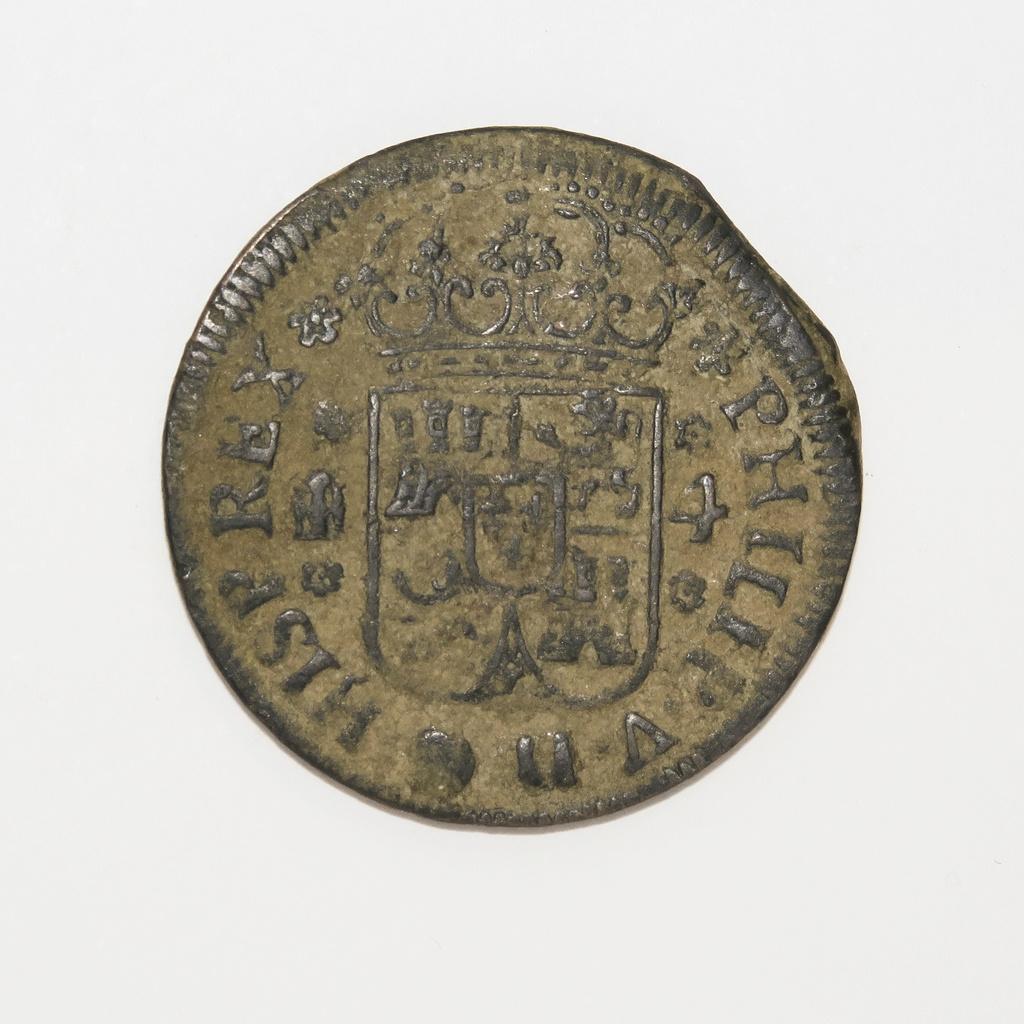 4 Maravedís de 1743, Felipe V  (ceca de Segovia). Anvers10