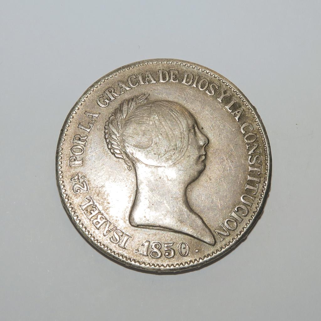 20 Reales  1850 Isabel II Anvers14