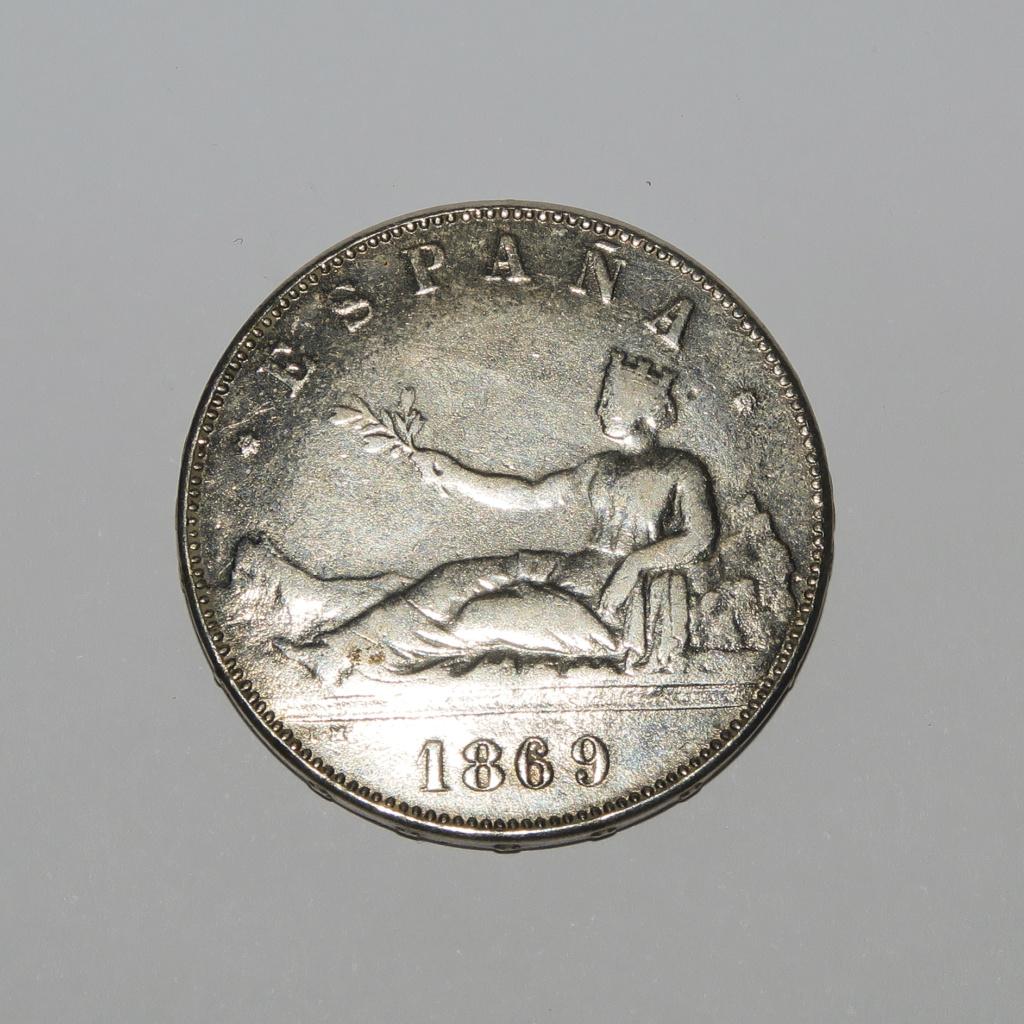 5 Pesetas 1869 Gobierno provisional Anvers16