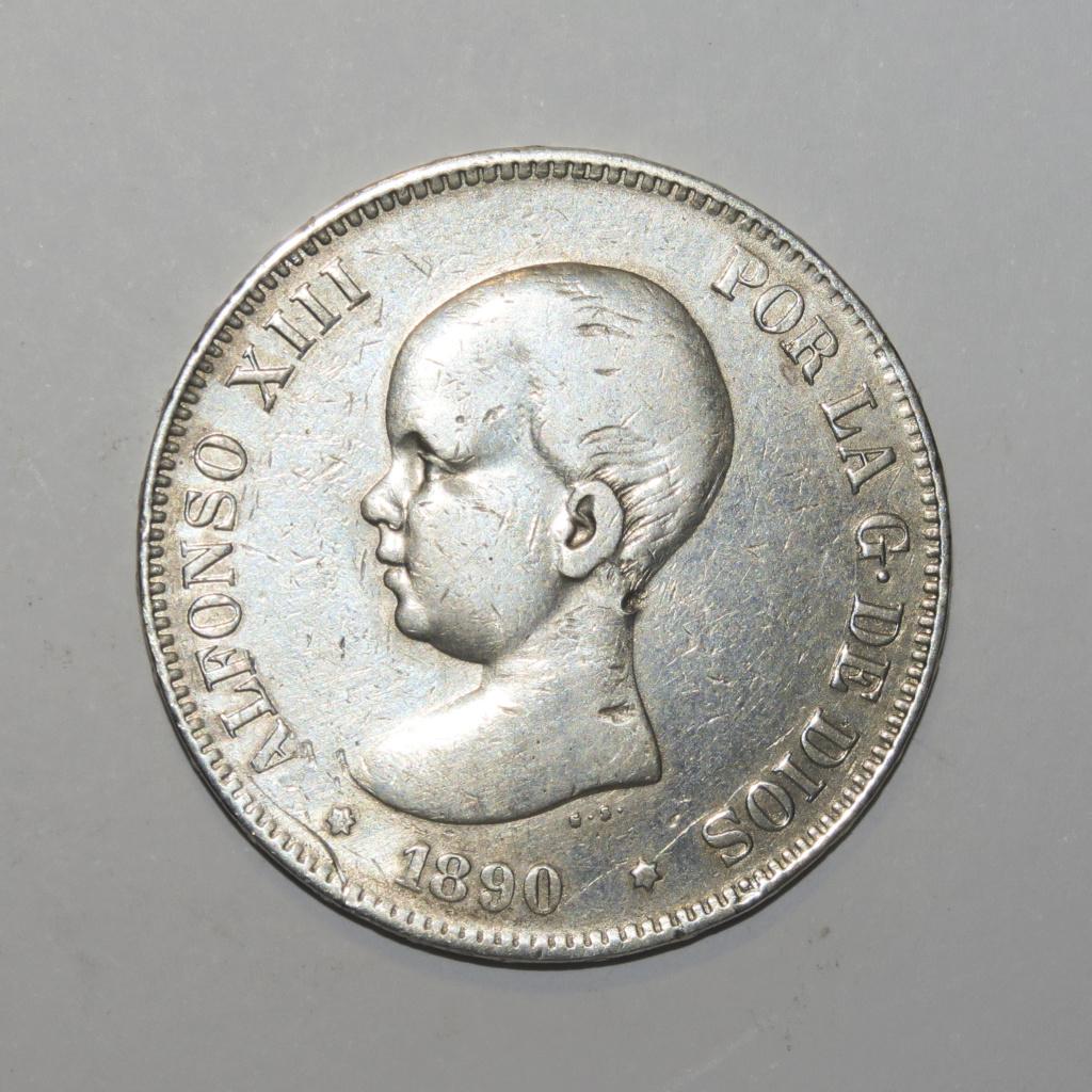 5 Pesetas 1890 Alfonso XIII Anvers17