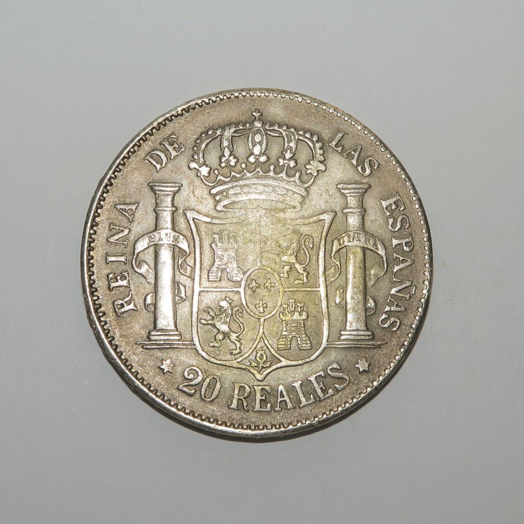 20 Reales  1850 Isabel II Revers14
