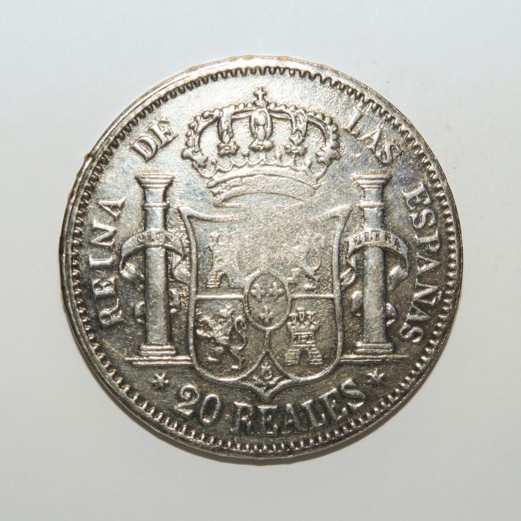 20 Reales  1852 Isabel II Revers15