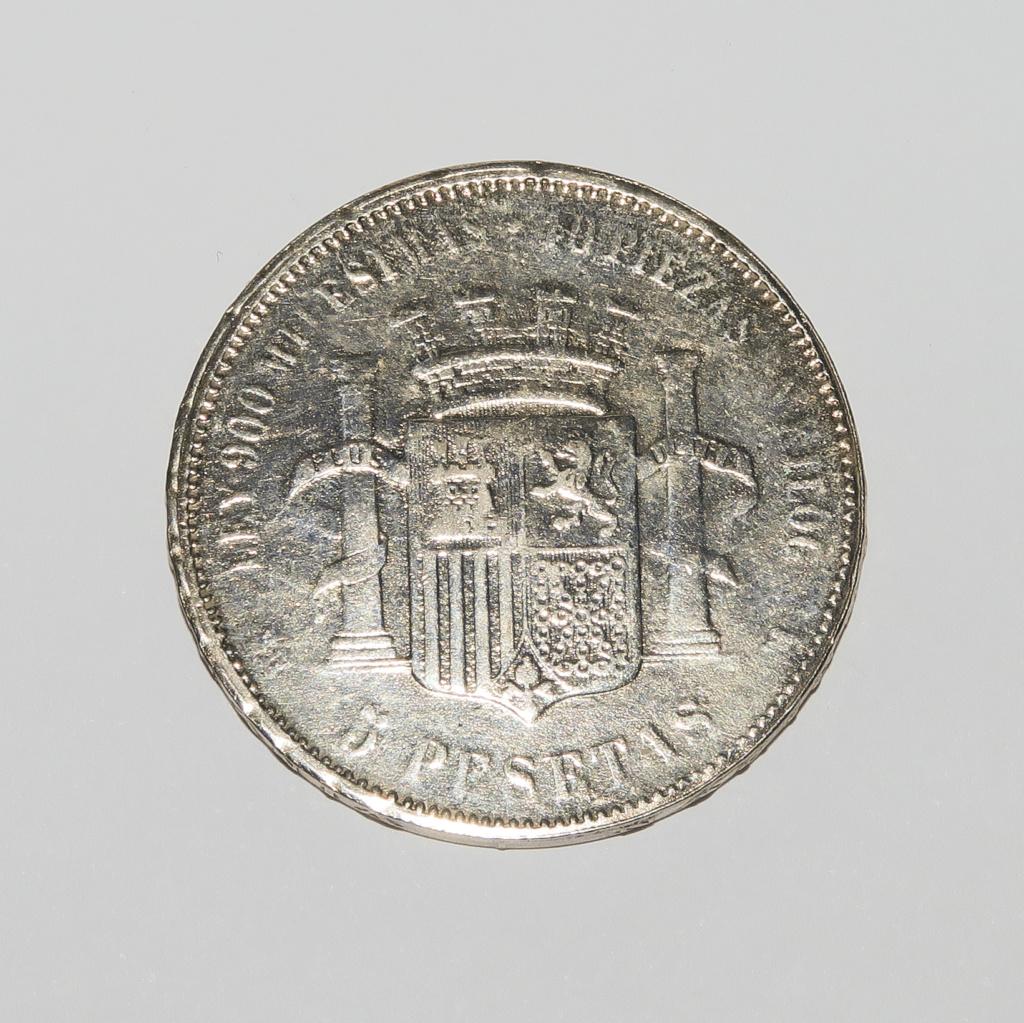 5 Pesetas 1869 Gobierno provisional Revers16