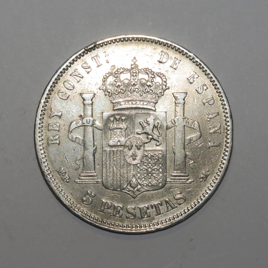 5 Pesetas 1890 Alfonso XIII Revers17