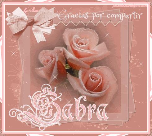 GRACIAS POR COMPARTIR... SABRA 2d941910
