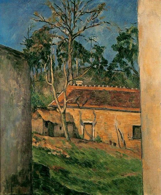Patio de granja en Auvers-Cézanne Cezza10