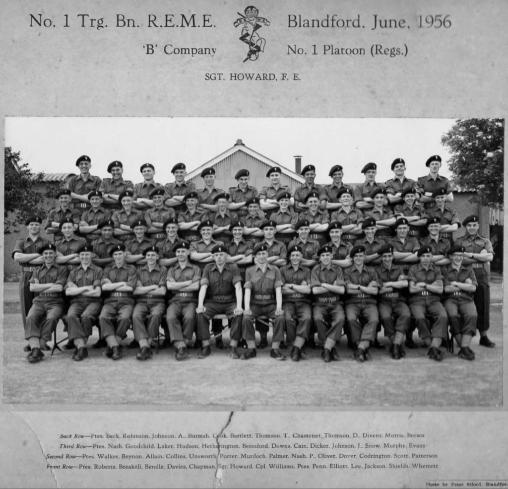 No 1 Trg. Bat.t REME Blandford Forum 1956 - Page 2 Reme10