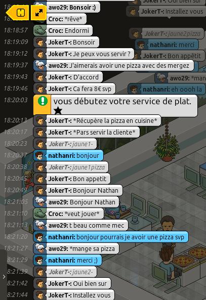 [Restaurant] Rapports d'actions RP de JokerT- Ra13