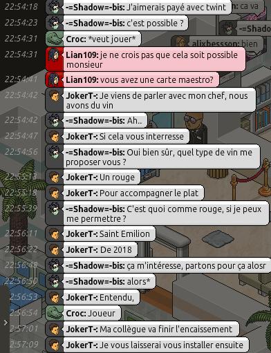 [Restaurant] Rapports d'actions RP de JokerT- Screen92