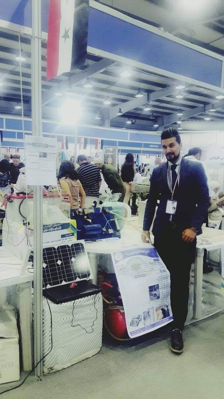 الطالب محمد رامي حراق و الميدالية الذهبية باختراعة بمعرض الباسل Fb_img14