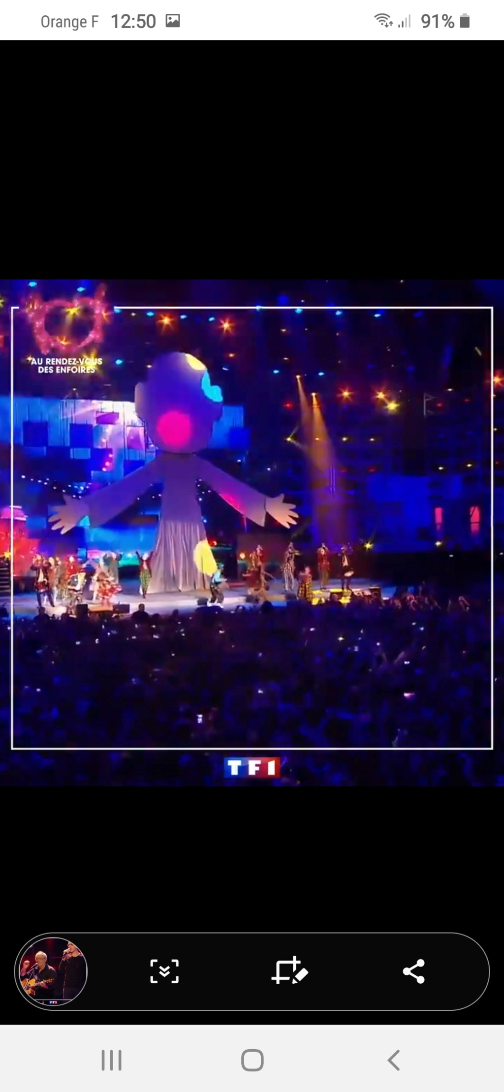 Les Enfoirés sur TF1 (rediffusion) Screen51