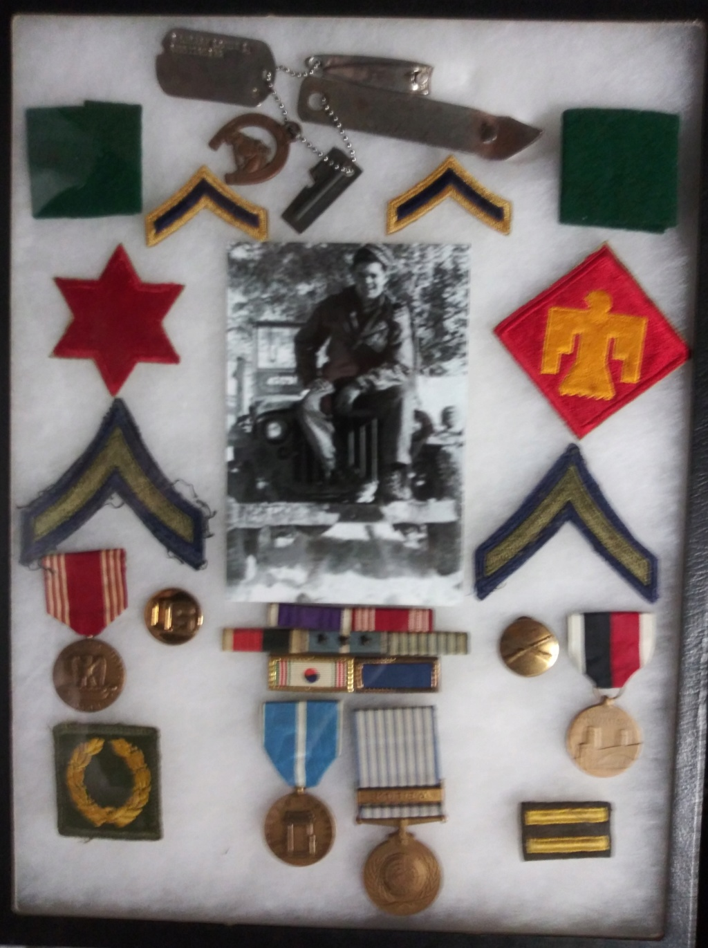 Items from Pfc. Louis L. Sobczak, 45th Division 20200122
