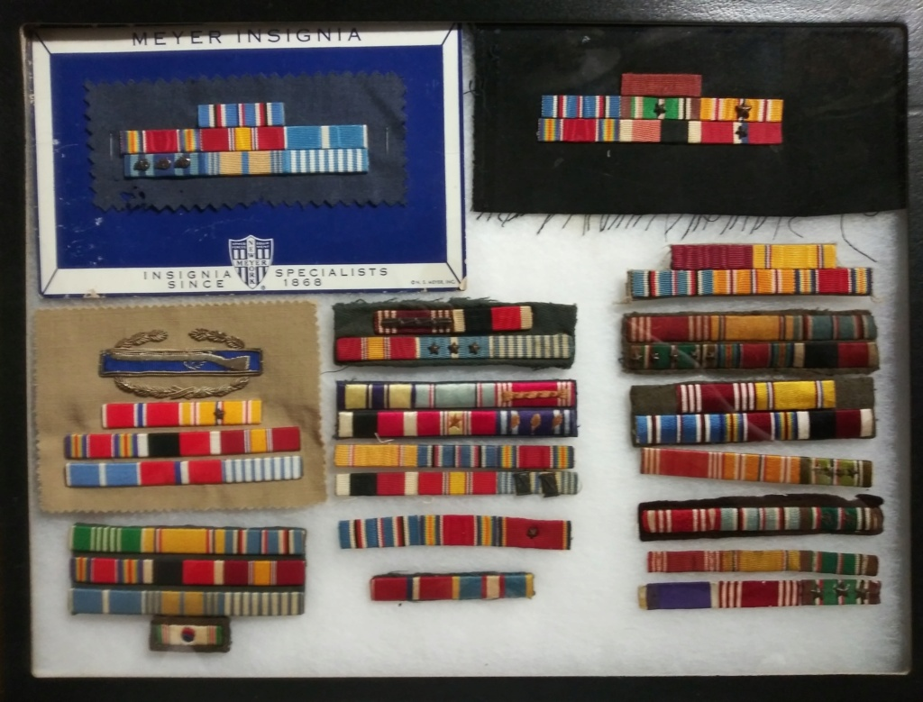 Custom Made US Ribbon Bars from WW2 into the 60's. 20200124