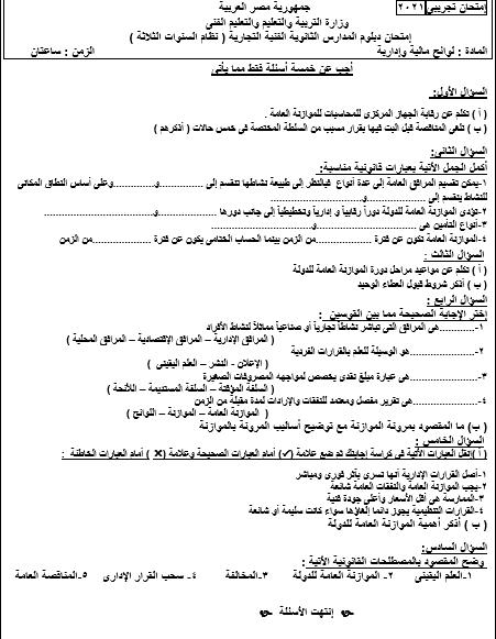 نماذد اسئلة مادة لوائح مالية - دبلوم شئون قانونية Aiiy_410