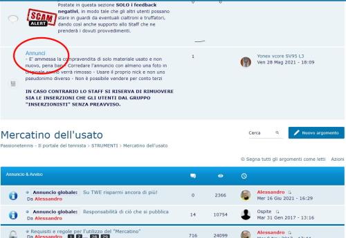 """Sezione """"Mercatino"""" in manutenzione Cattur11"""