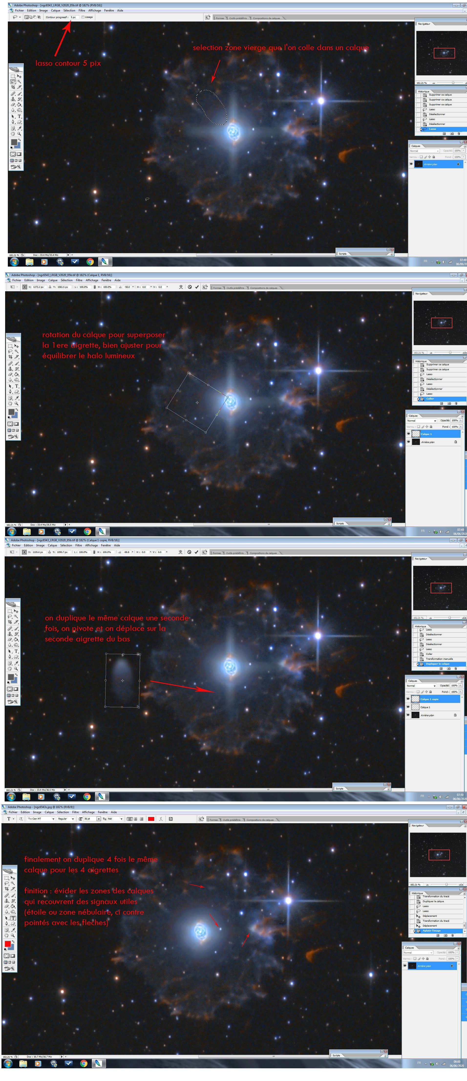 Le flocon du compte à rebours - NGC6543 N6543e10