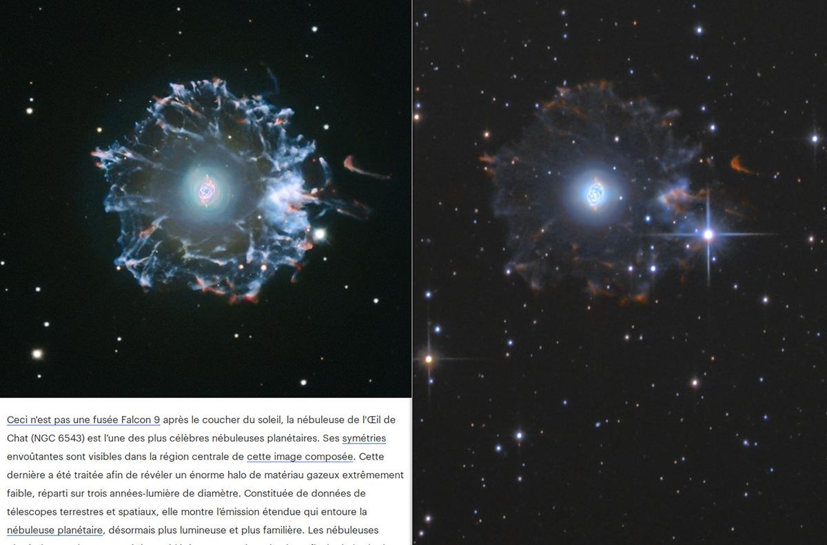 Le flocon du compte à rebours - NGC6543 Ngc65410