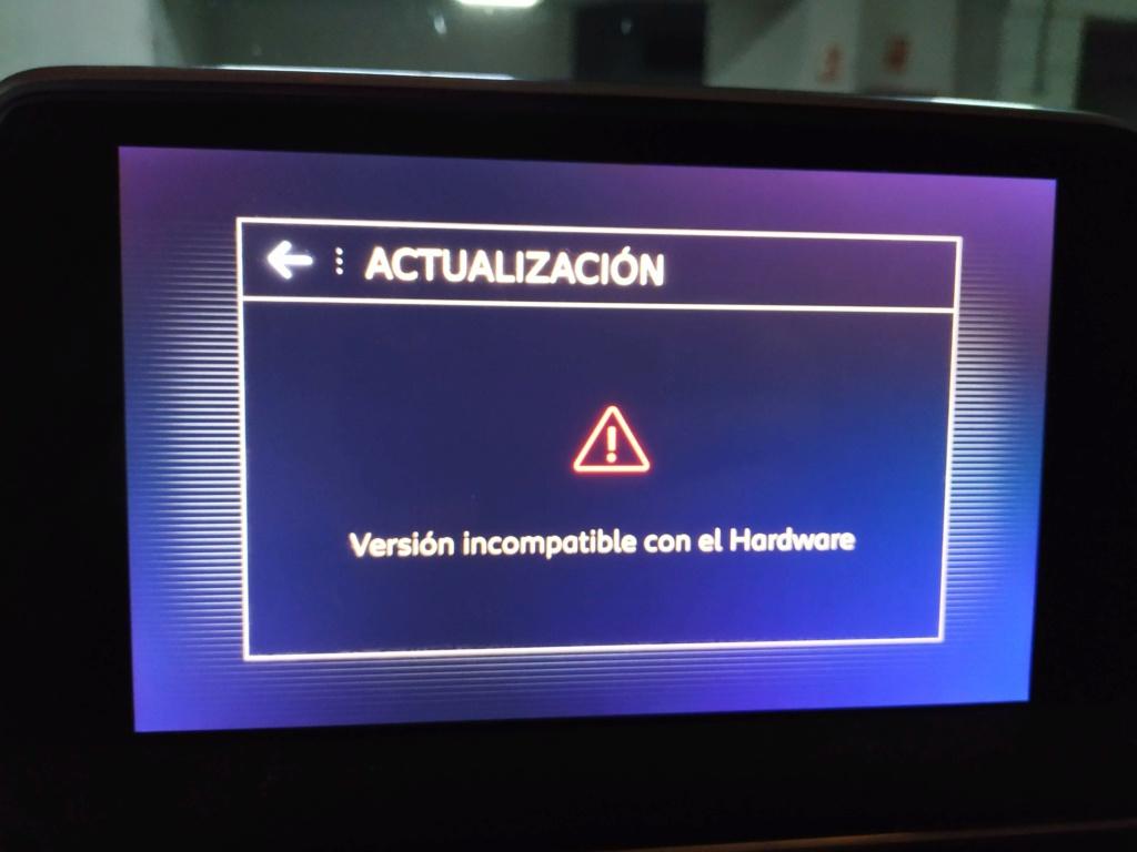 """problema actualización mapas """"Versión incompatible con el Hardware"""" Img_2010"""