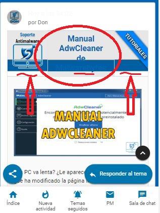 Tabla de anuncios se mira mal en versión móvil Movila10