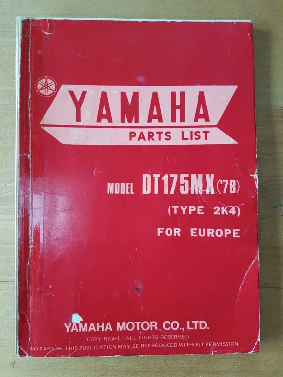 Restauration d'une Yamaha DT175MX 2K4 de 1979 20190721